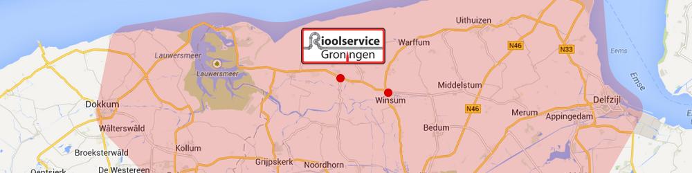 Werkgebied Rioolservice Groningen