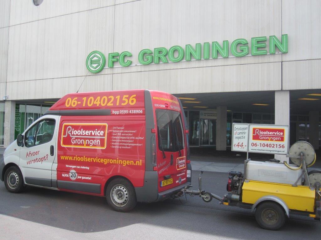Rioolservice Groningen bij Fc Groningen
